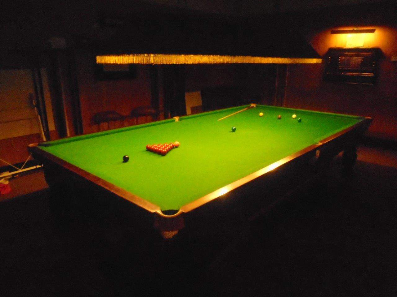 Snooker Room Facilities At Croydon Bowling Club