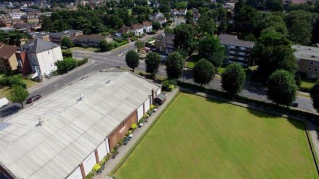 Drone View of Croydon Bowling Club